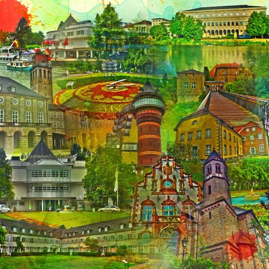 RAY - RAYcities - Mülheim - Collage - 100 x 100 cm