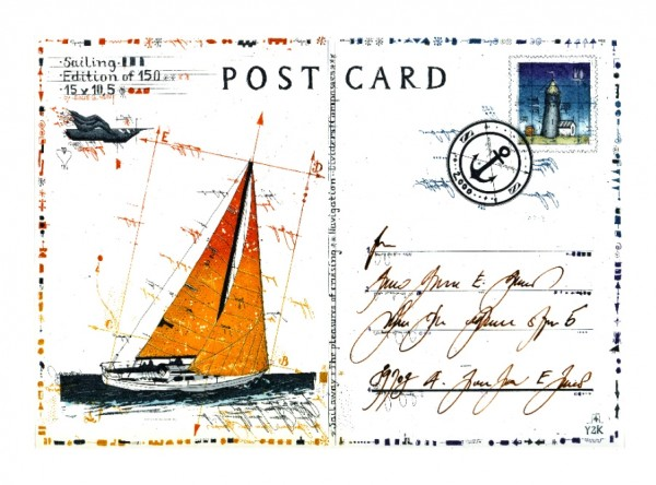 LESLIE G. HUNT - Sailing Postcard
