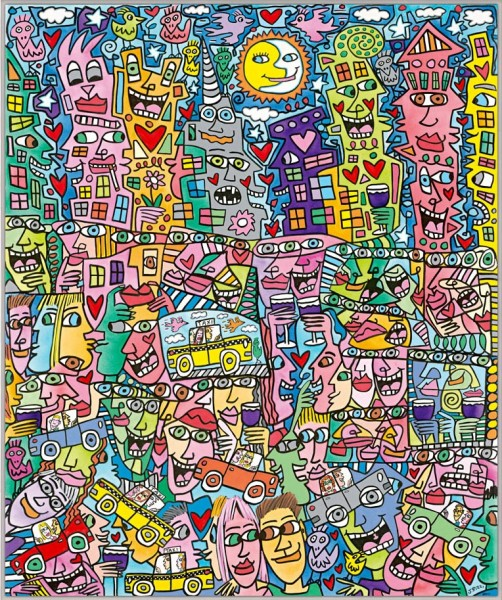 JAMES RIZZI - GETTING THE MOST OUT OF LIFE (Pigmentdruck auf Leinwand)