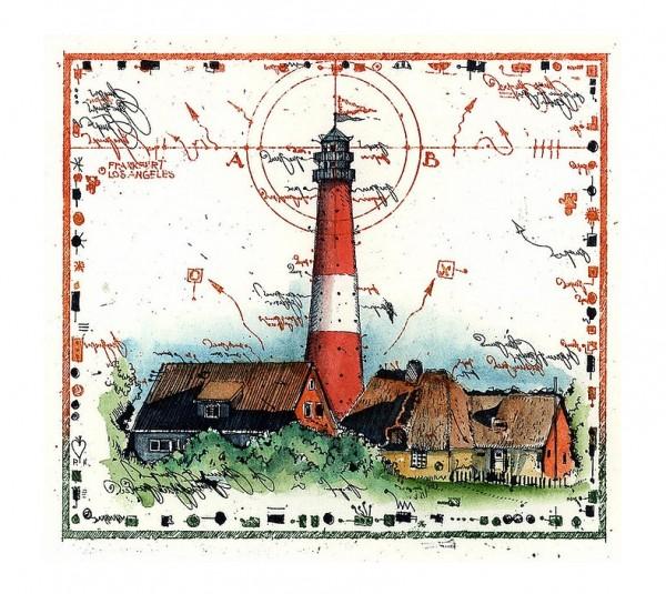 LESLIE G. HUNT - Leuchtturm - Miniatur