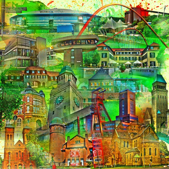 RAY - RAYcities - Gelsenkirchen - Collage - 70 x 70 cm