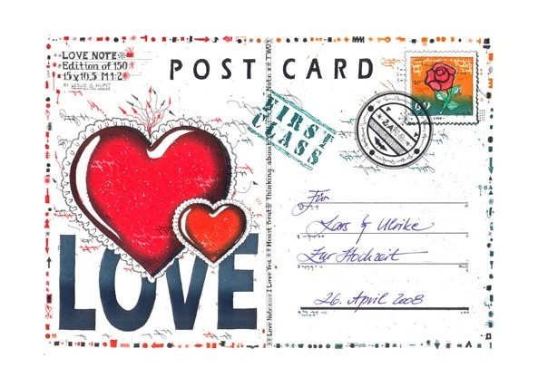 LESLIE G. HUNT - LoveNote Postcard 3