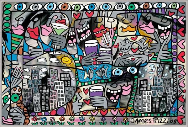 JAMES RIZZI - SO HAPPY TOGETHER (Pigmentdruck auf Leinwand)