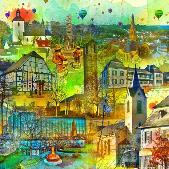 RAY - RAYcities - Warstein - Collage - 100 x 100 cm