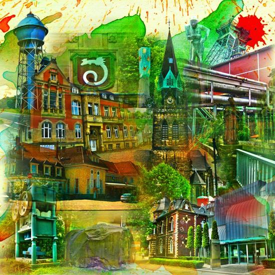 RAY - RAYcities - Ahlen - Collage - 70 x 70 cm