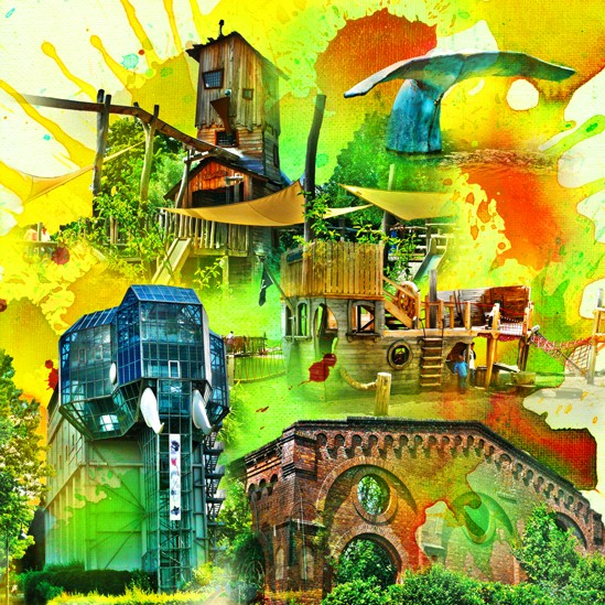 RAY - RAYcities - Hamm - Collage - Maxipark - 100 x100 cm