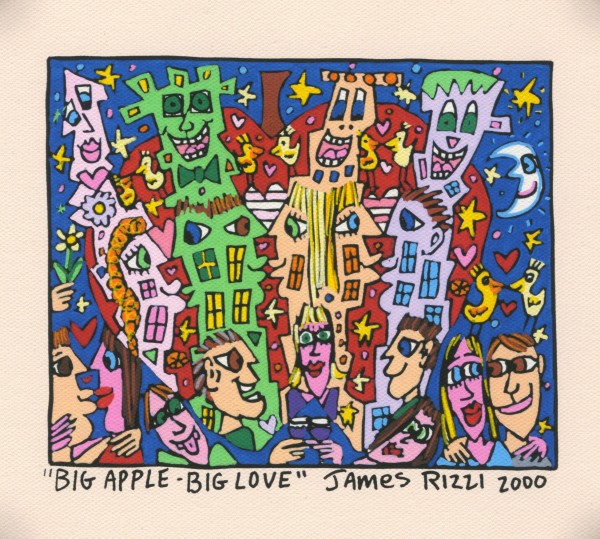 JAMES RIZZI - BIG APPLE - BIG LOVE (Pigmentdruck auf LW)