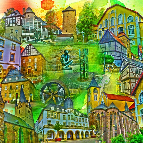 RAY - RAYcities - Menden - Collage - 70 x70 cm