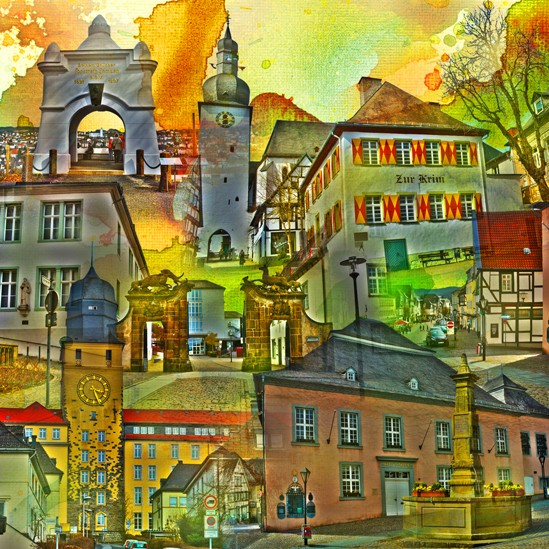 RAY - RAYcities - Arnsberg - Collage - 70 x 70 cm