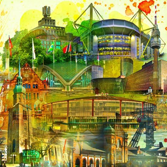 RAY - RAYcities - Dortmund - Collage - 70 x 70 cm