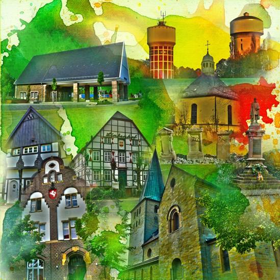 RAY - RAYcities - Hamm - Collage - City Süd - 100 x 100 cm