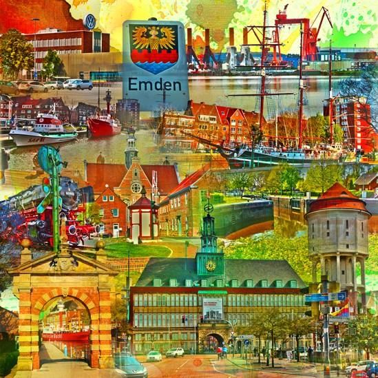 RAY - RAYcities - Emden - Collage - 70 x 70 cm