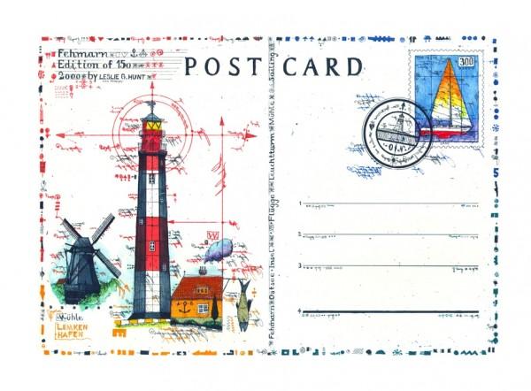 LESLIE G. HUNT - Lighthouse Postcard