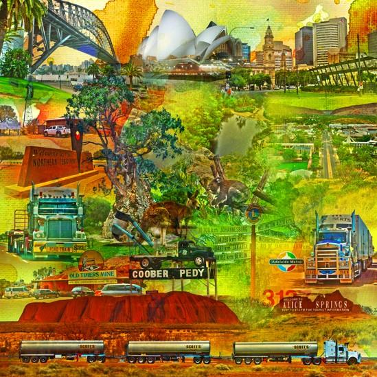 RAY - RAYcities - Australien - Collage - 100 x 100 cm