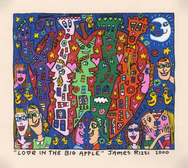 JAMES RIZZI - LOVE IN THE BIG APPLE (Pigmentdruck auf LW)