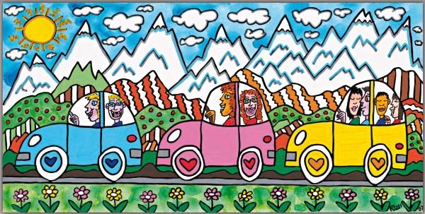 JAMES RIZZI - DRIVING THROUGH THE ALPS (Pigmentdruck auf LW)