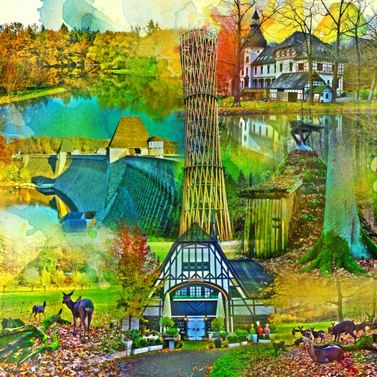 RAY - RAYcities - Arnsberger Wald - Collage - 100 x 100 cm