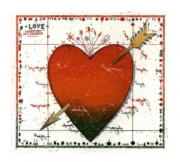LESLIE G. HUNT - LOVE NOTE HERZ - Miniatur