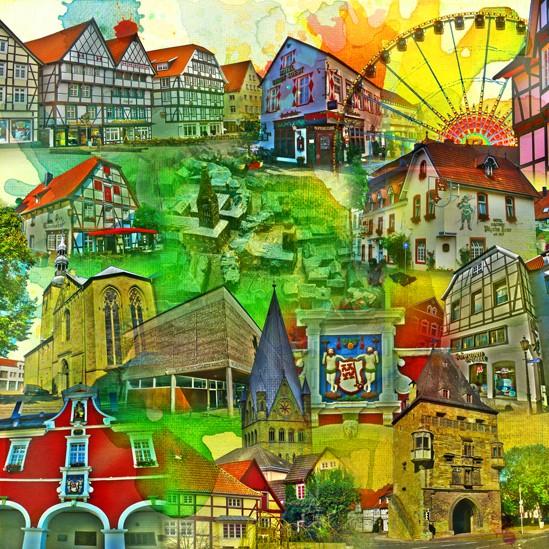 RAY - RAYcities - Soest - Collage - 100 x 100 cm