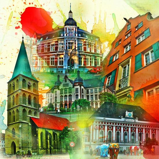 RAY - RAYcities - Hamm - Collage - City 1 - 70 x 70 cm