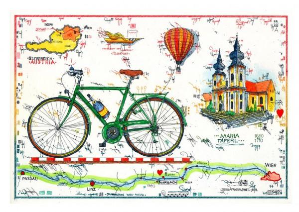 LESLIE G. HUNT - Radfahren an der Donau - * aktuelle Lieferbarkeit anfragen