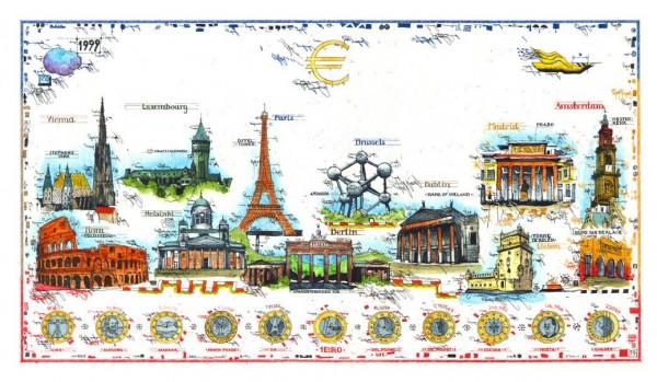 LESLIE G. HUNT - Euro Current Cities - * aktuelle Lieferbarkeit anfragen