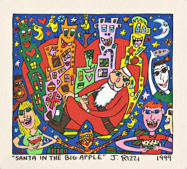 JAMES RIZZI - SANTA IN THE BIG APPLE (Pigmentdruck auf LW)