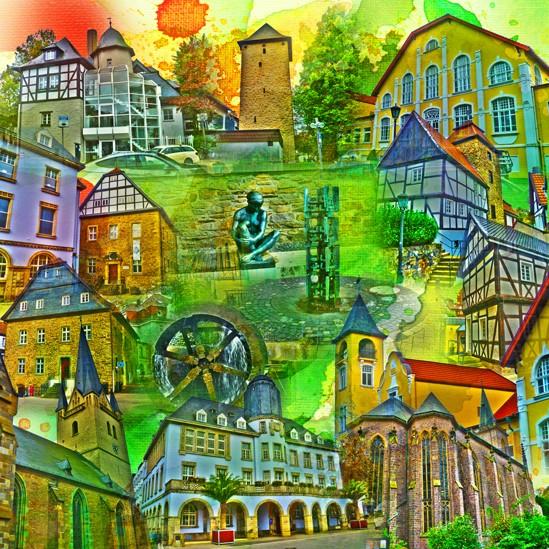 RAY - RAYcities - Menden - Collage - 100 x100 cm