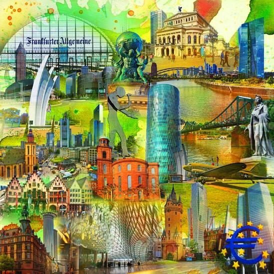 RAY - RAYcities - Frankfurt am Main - Collage - Schiller - 100 x 100 cm