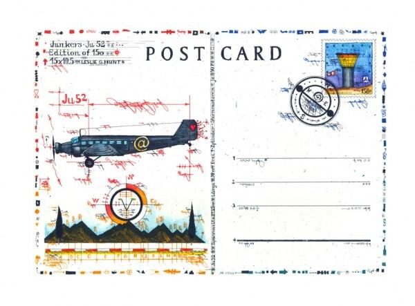 LESLIE G. HUNT - JU 52 Postcard