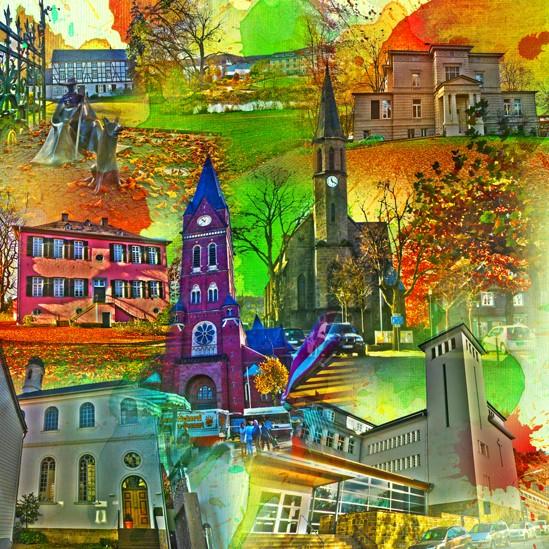 RAY - RAYcities - Neheim - Collage - 70 x 70 cm