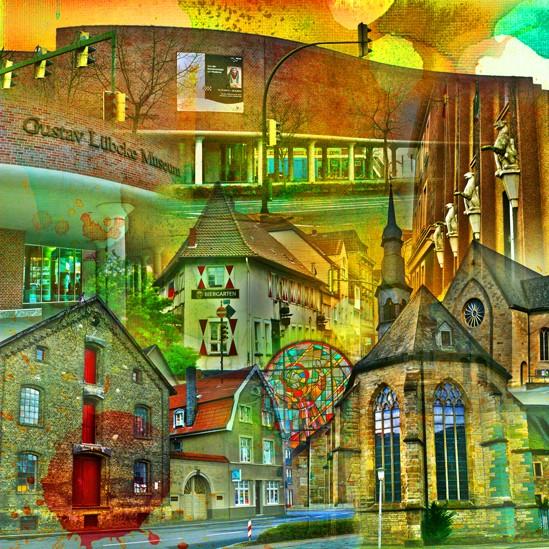 RAY - RAYcities - Hamm - Collage - Museumsquartier - 100 x 100 cm