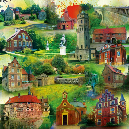 RAY - RAYcities - Münster 2 - Collage - 100 x 100 cm