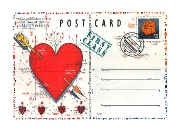 LESLIE G. HUNT - Love Note Postcard II