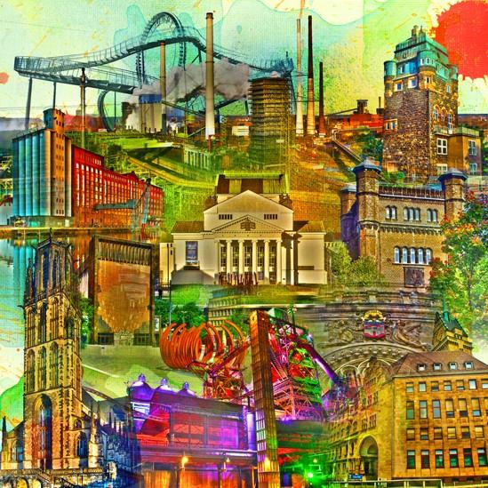 RAY - RAYcities - Duisburg - Collage - 70 x 70 cm