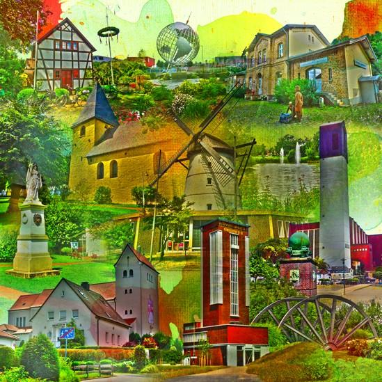 RAY - RAYcities - Bönen - Collage - 100 x 100 cm