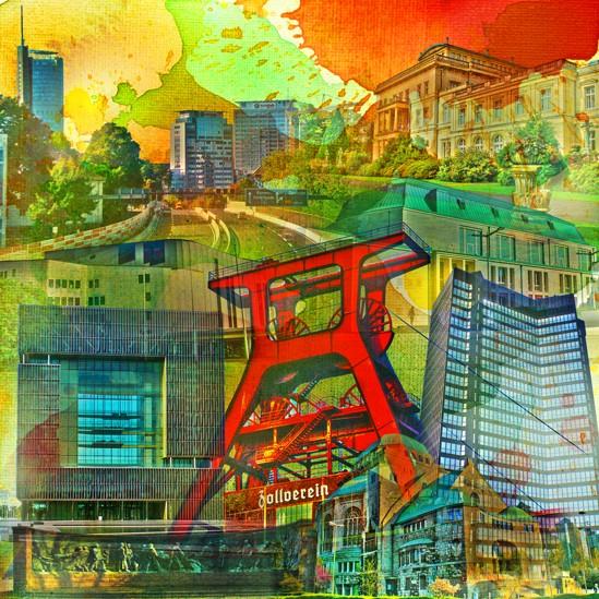 RAY - RAYcities - Essen - Collage - 100 x 100 cm