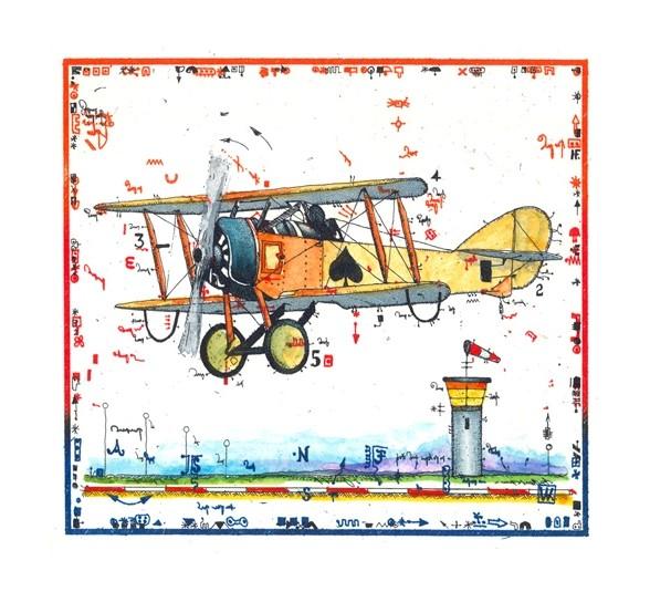 LESLIE G. HUNT - Flugzeug - Miniatur