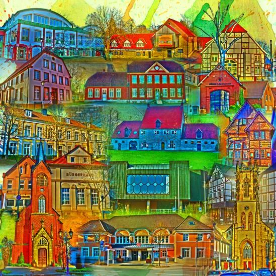 RAY - RAYcities - Oelde - Collage - 100 x 100 cm