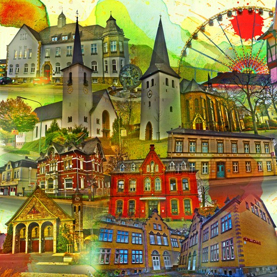 RAY - RAYcities - Hüsten - Collage - 70 x 70 cm