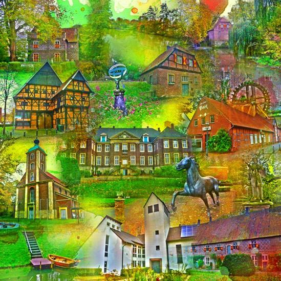 RAY - RAYcities - Drensteinfurt - Collage - 70 x 70 cm