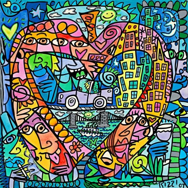 JAMES RIZZI - MY HEART LIVES IN MY BIG APPLE (Pigmentdruck auf LW)