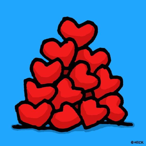 ED HECK - HEART PILE